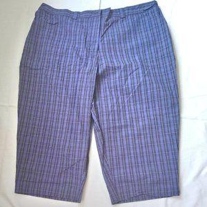 WHITE STAG Plaids Capri Pants Sz 24W